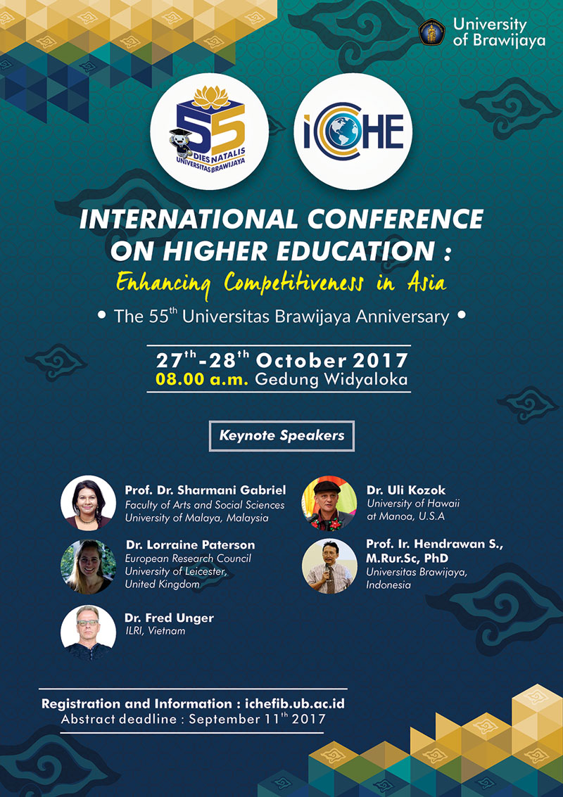 International Conference on Higher Education - Enhancing Competitiveness in Asia