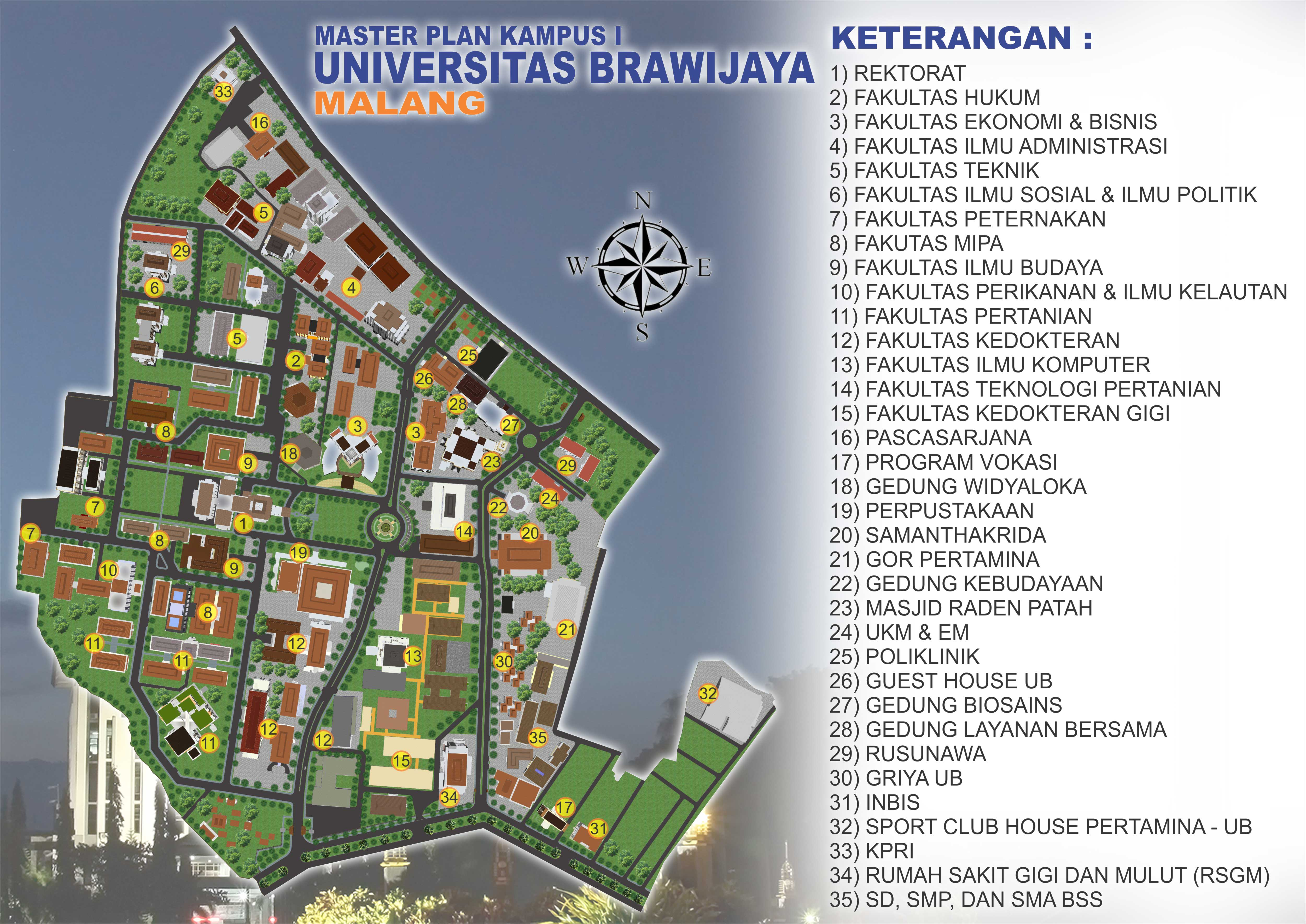 Campus Map Universitas Brawijaya